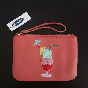 Coral cocktail wristlet purse - Old Navy - New